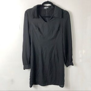 NWT Fashion Union Black Collared Long Sleeve Dress
